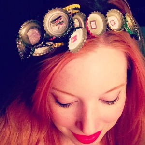 Beer caps headband