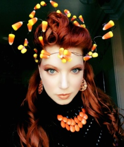 Candy corn crown, designed by Renee Nicole Gray