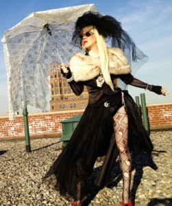 Umbrella, hat and styling by Renee Nicole Gray