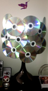 CD lamp by Renee Nicole Gray