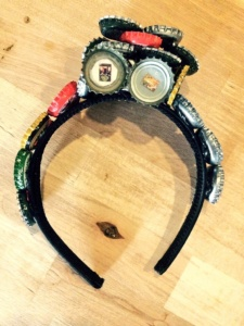 Beer Cap headband by Renee Nicole Gray