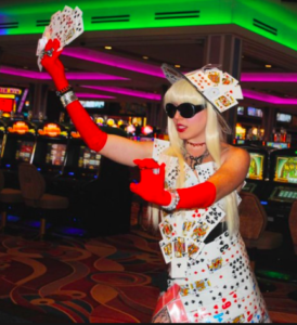 Playing Card Casino outfit by Renee Nicole Gray