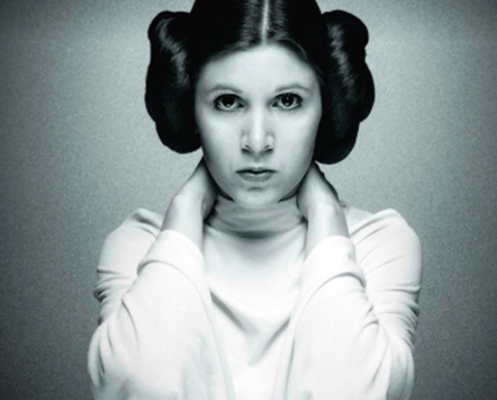 The Secret To Carrie Fisher's Famous Hair Buns